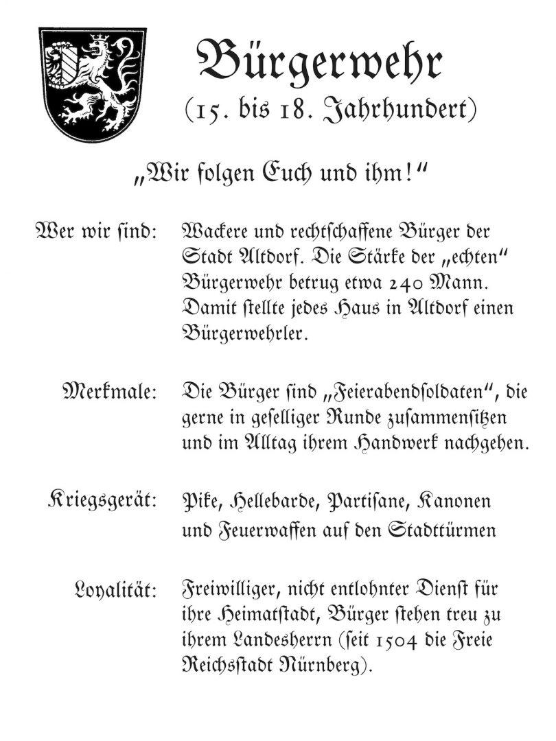 Schild Bürgerwehr
